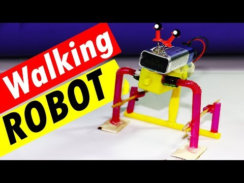 How To Make A Walking Robot At Home With Gear Motor