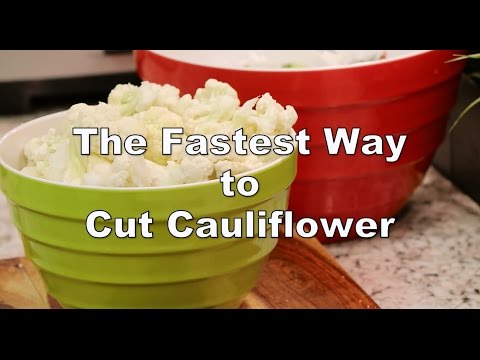 How to cut cauliflower in less than 1 minute | Food Chain TV with Chef Cristian Feher
