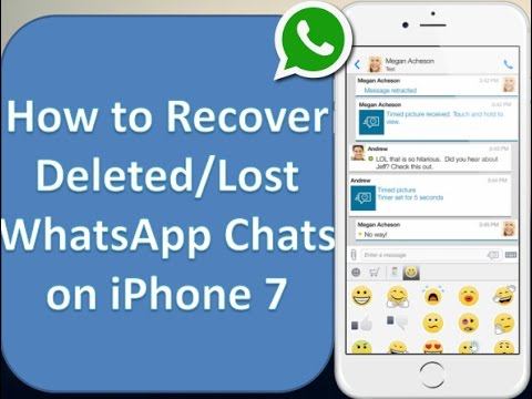 How to Retrieve Deleted WhatsApp Messages on iPhone 7/7 Plus/6S/6S Plus/SE/ 6 Plus/6/5S/5C