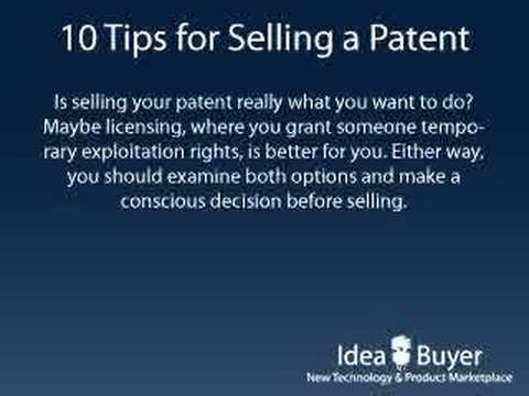 Sell a Patent