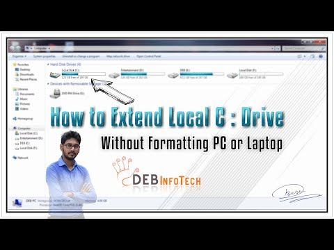 How to Extend C Drive Without Formatting PC or Laptop | Deb Infotech | Windows 7