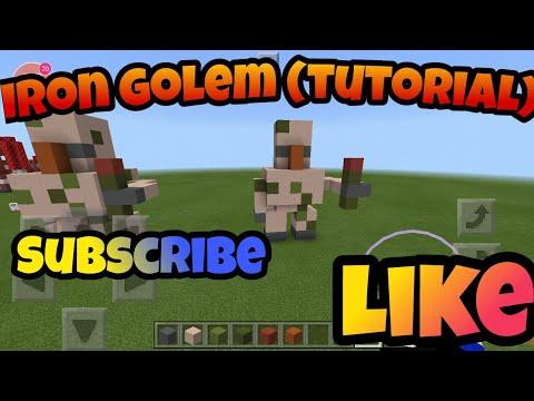 How to Make a Iron Golem Statue (Tutorial)