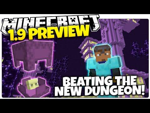Minecraft 1.9 Snapshot RECREATION | BEATING THE NEW END CITY DUNGEON (Minecraft 1.9)