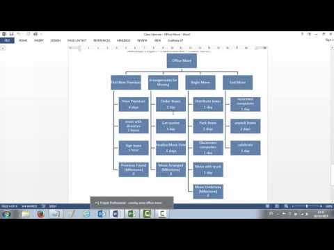 MS Project 2013 Entering Tasks, Durations and Creating a WBS