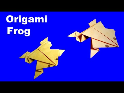 Paper Frog | How To Make an Origami Frog That Jumps