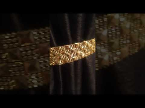 Diamante facet tie backs