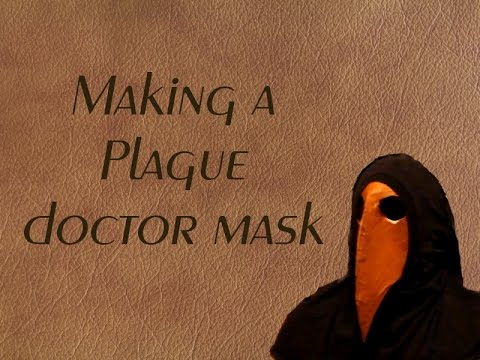 Making a plague doctor mask