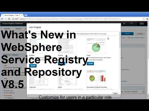 What's New in WebSphere Service Registry and Repository V8.5