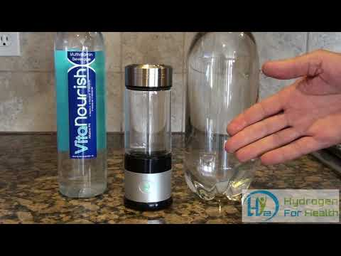NEW Hydrogen water bottle with PEM technology. easily attach 1 and 2 liter bottles
