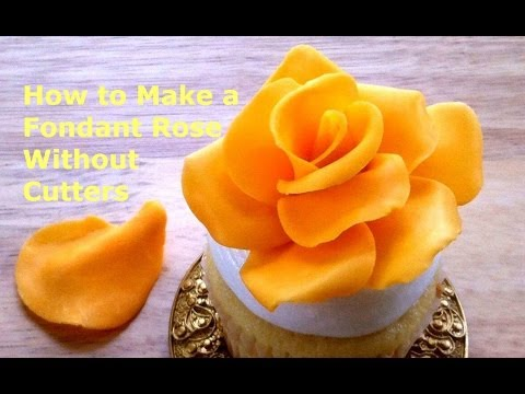 How to make fondant roses without using cutters