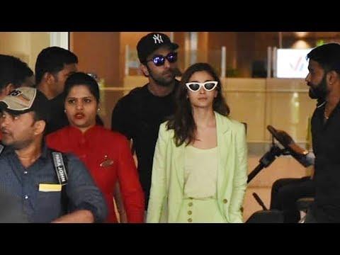 Xxx Mp4 Ranbir Kapoor और Alia Bhatt दिखाई दिए Airport पर 3gp Sex