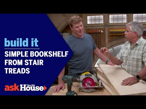 Build It | Simple Bookshelf from Stair Treads