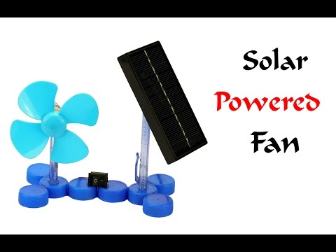 How To Make a Mini Solar Powered Electric Fan at Home - Easy Way