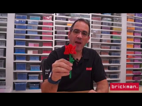 Build a LEGO brick rose for Mothers Day!