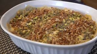 Umm Ali - Egyptian Sweet Dish حلوى أم علي بالكرواسون والقشطة