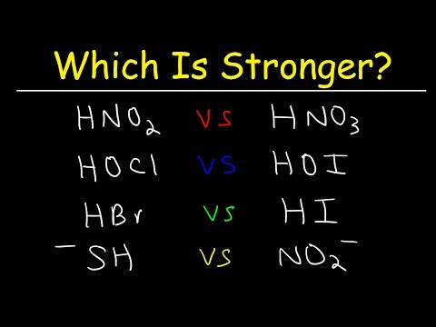 Acid Base Strength - Which Is Stronger?