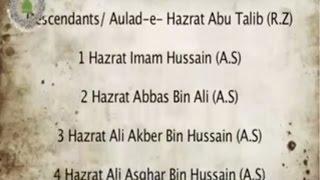 Names of 72 Martyrs of Karbala Shuhada e Karbala ke Naam