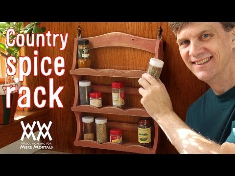 Country spice rack from pallet wood. Recycled charm.