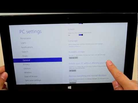 How to Change the language on Microsoft Surface RT