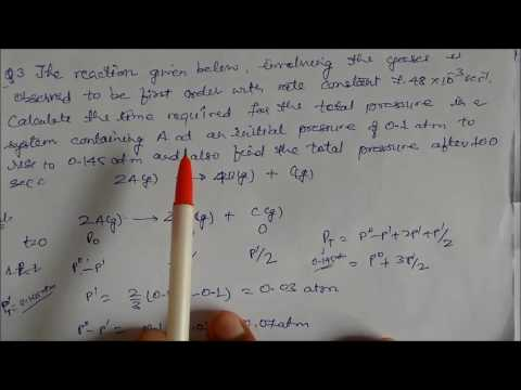 First Order Reaction-Pressure Change Method: LN-17 CLASS XII Chemical Kinetics CHEMISTRY