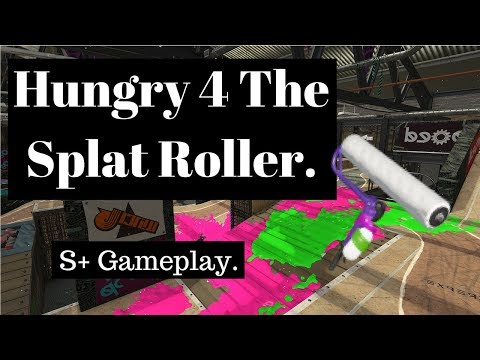 Vanilla Splat Roller S+ Gameplay. Humpback Pump Track Zones. How to slay.