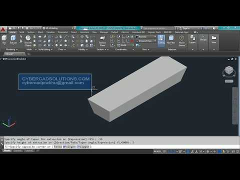 How to Extrude in AutoCAD