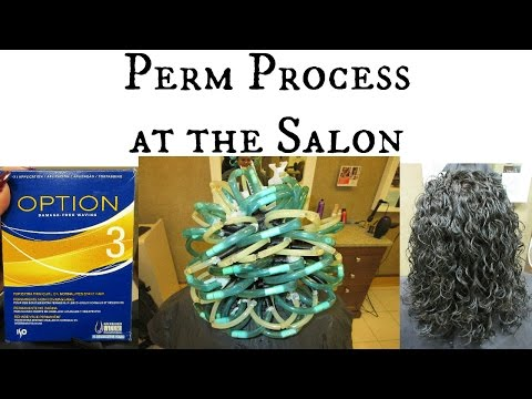 Getting a Spiral Perm at the Salon