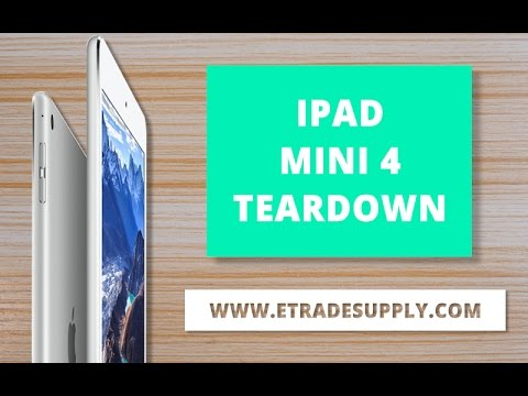 How to Disassemble/Tear down the iPad Mini 4 for Screen, Battery, Charging Port Replacement