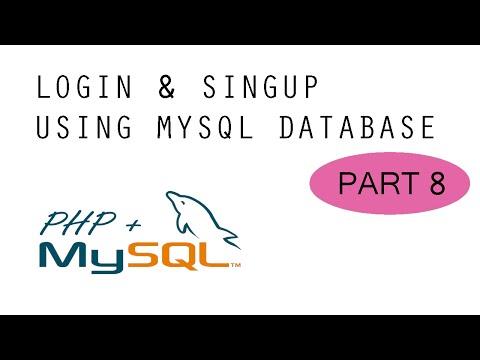 Login & SignUp - MySQL + PHP Tutorial - Part 8 (FINAL)