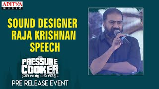 Sound Designer Raja Krishnan Speech  @ Pressure Cooker Movie Pre Release Event