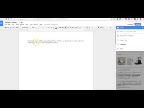 How to Use the Citation Tool in Google Docs