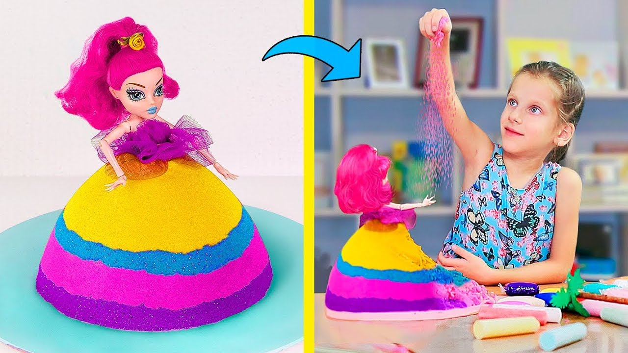 Very Satisfying Kinetic Sand Video / 10 Mind-Blowing Sand Ideas
