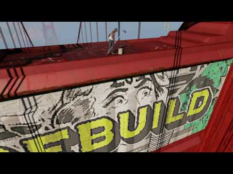 Watch Dogs 2 - Tagging the Golden Gate Bridge PS4 HD