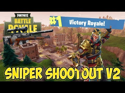 Fortnite BR Tilted Towers Sniper Shootout V2 Victory Royale!!! (Funny Moments)