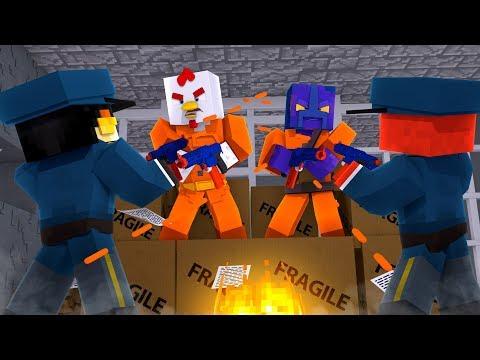 Minecraft - NERF WAR PRISONERS VS GUARDS! (NERF GUN MODS)