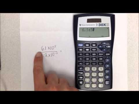 Scientific Notation on the TI30X-IIS