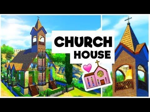 HAUNTED CHURCH! | Hampton Falls Build!  [The Sims 4]