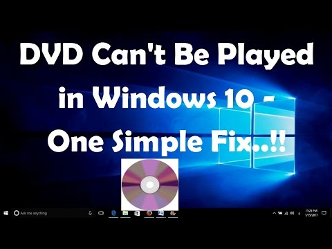 DVD Can't Be Played in Windows 10 - One Simple Fix..!!