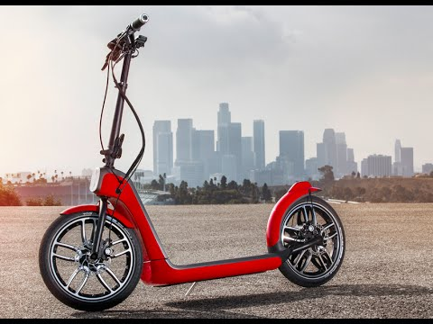 MINI Electric Scooter How It Works Fold Up Electric Mini Walk Around Video CARJAM TV 2015