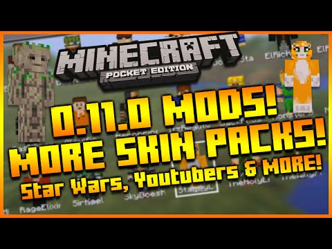 ★MINECRAFT POCKET EDITION 0.11.0 UPDATE - NEW COOL MORE SKIN PACKS MOD FULL SHOWCASE!★