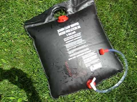 Solar Camp Shower Bag Demonstration & Review