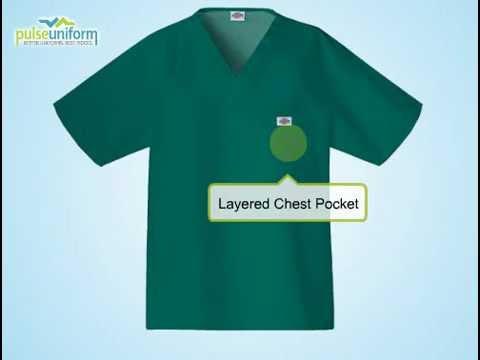Dickies Scrubs - DI-816106 Men Raglan Sleeve Solid Nursing To