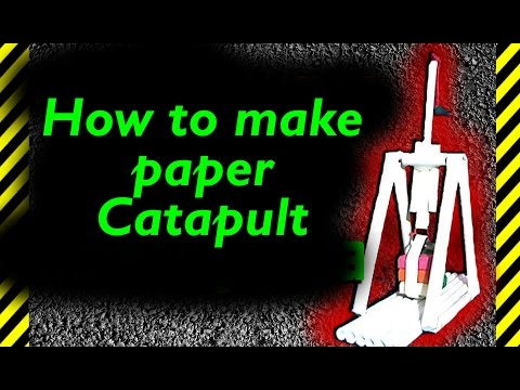 How to make paper Catapult that shoots far from easy and fast