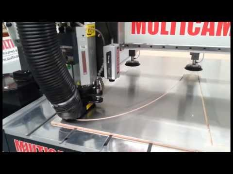 Cutting Aluminium sheet with a Multicam CNC routing machine