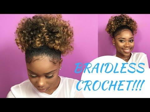 BRAIDLESS CROCHET - HIGH PUFF || Jamaican BOUNCE Crochet Braiding Hair