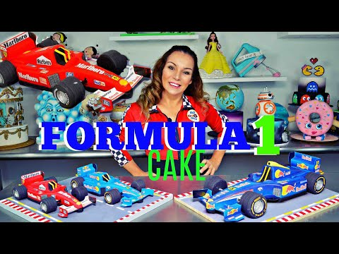 FORMULA 1 CAKE & EDIBLE WHEELS   BY VERUSCA WALKER