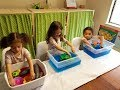 Colorful Water Sensory Play- Sea Animals, Screen Free Activity