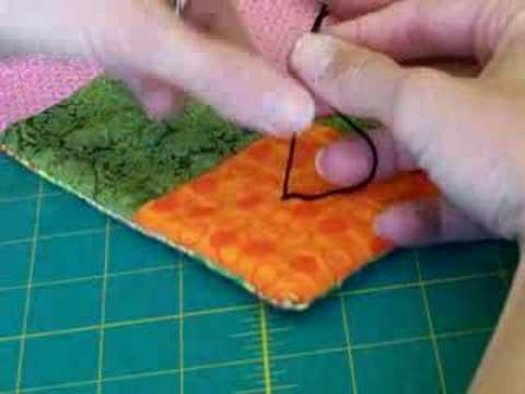How to tie a surgeon's knot for a quilt