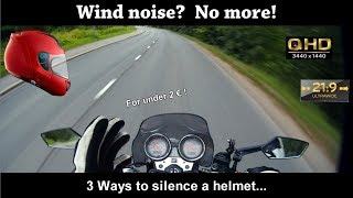 How To Reduce Helmet Noise,removing Wind Noise 21:9