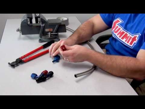 Braided Hose Assembly with AN Fittings - Summit Racing Quick Flicks